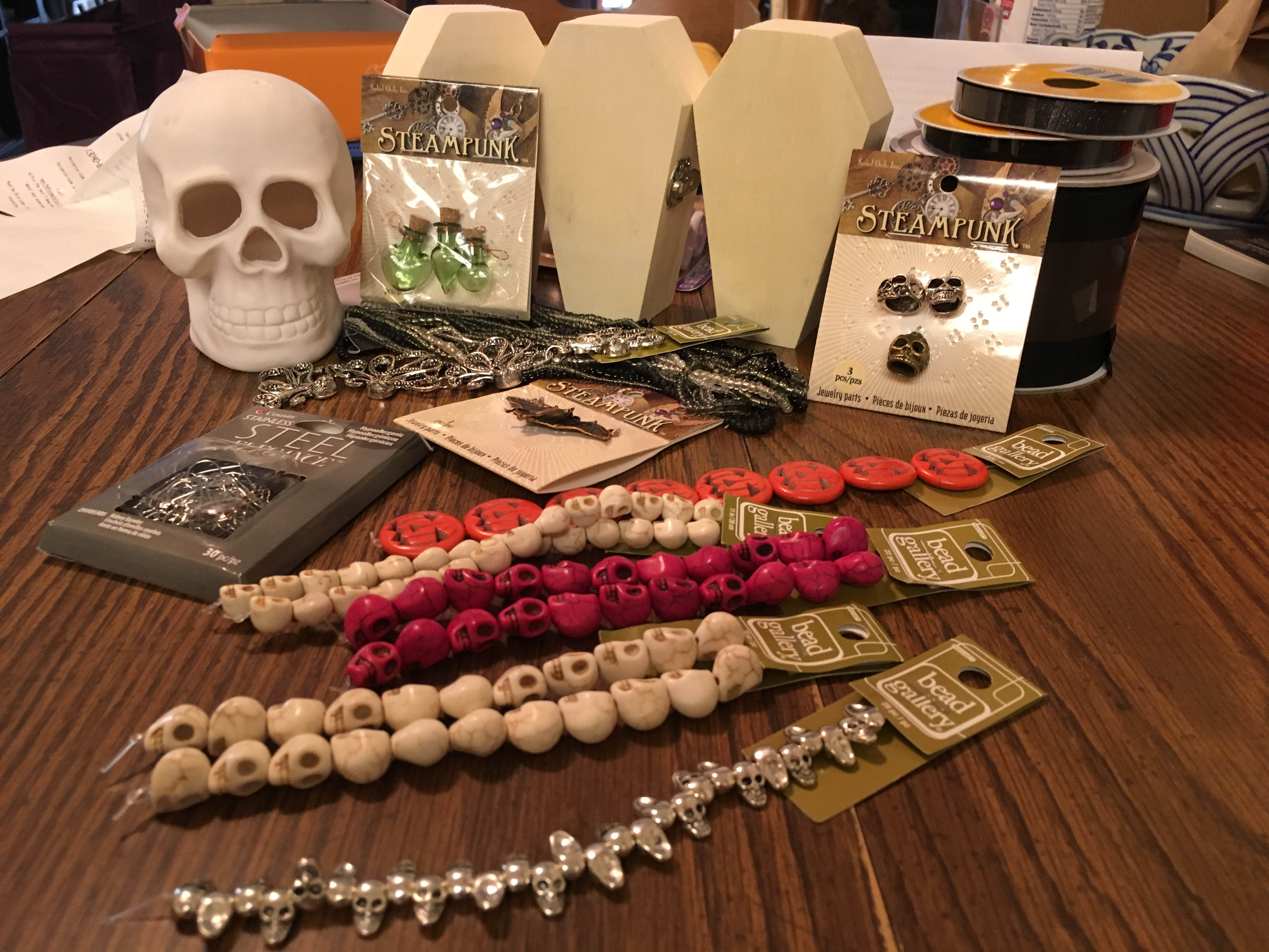 skull beads - cheese and glory